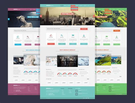 10 template layout website psd gratis tutorial web design