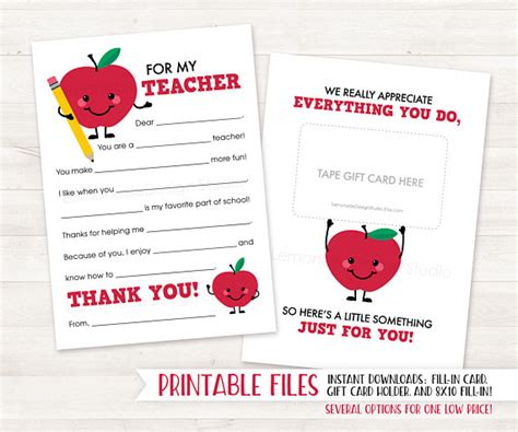 printable thank you cards for sunday school teachers printable teacher thank you card teacher card end of year