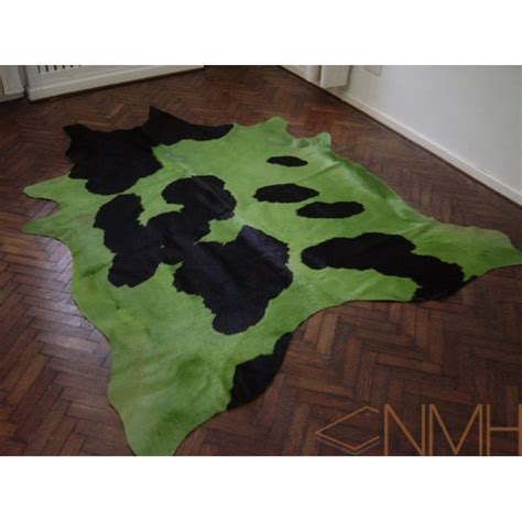 Green Cowhide Rug cowhide rug lime green