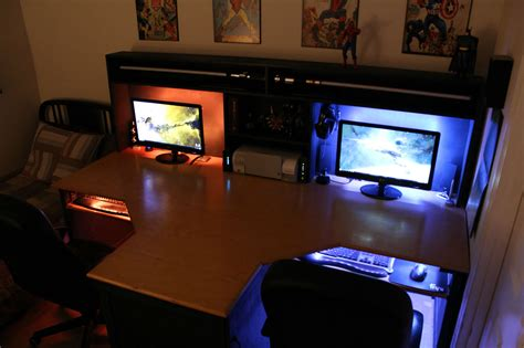 Two Computer Desk Setup Cool Computer Setups And Gaming Setups