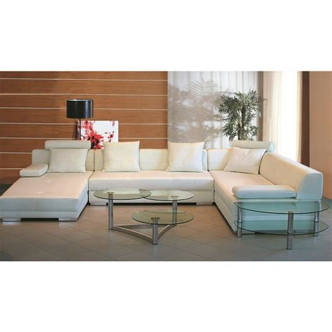 3334 white ultra modern sectional sofa modern sofas