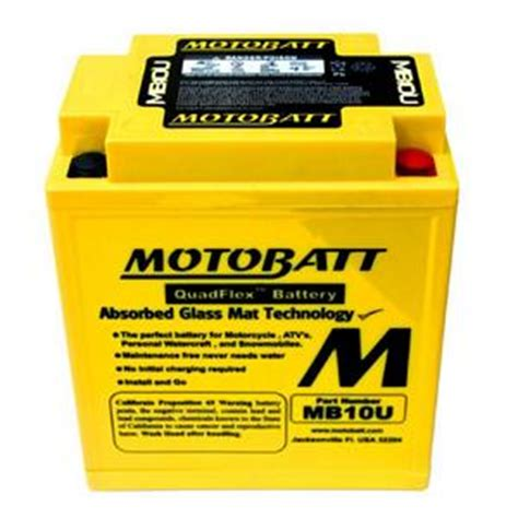 What Is A Glass Mat Battery by Ebatteriestogo Motobatt Mb10u 12volt Absorbed Glass Mat Agm Battery