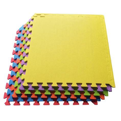 Multi Color Foam Floor Mat by Ottomanson Multi Purpose Multi Color 24 In X 24 In