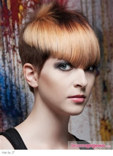 two color pixie cut pictures short hairstyles short two tone glam pixie