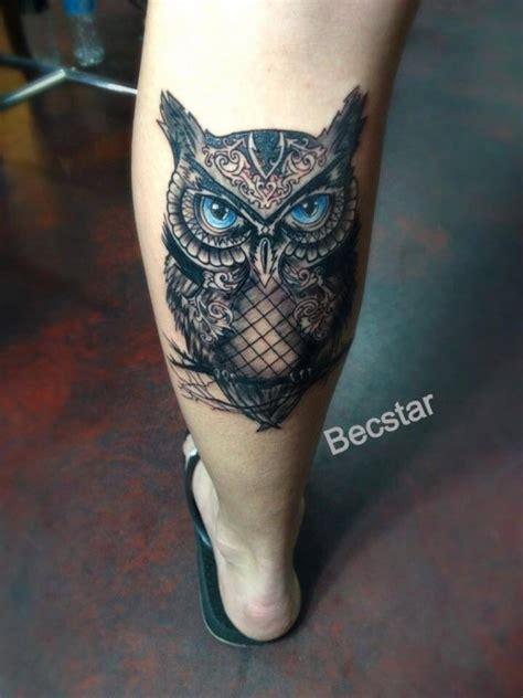 owl tattoo with green eyes blue eyes owl tattoo tattoomagz