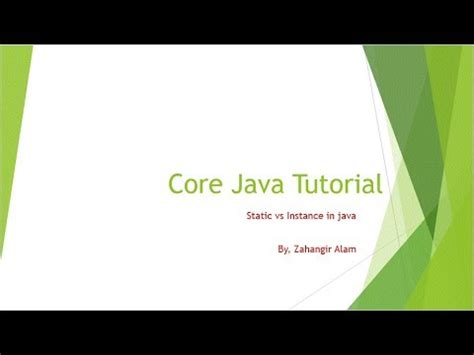tutorial java core 5 core java instance vs static with live coding bangla