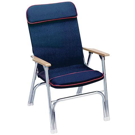 seachoice blue  red trim canvas folding chair   home depot
