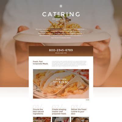 Catering Templates Templatemonster Catering Website Templates