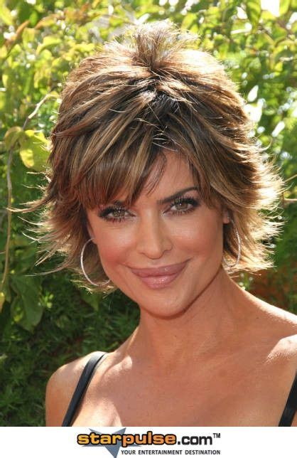 rear veiw of flicky hairsyles lisa rinna short hair styles pinterest hair and lisa
