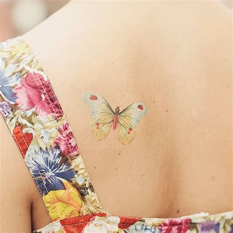 Butterfly Tattoo Lines | 12 ultra beautiful no line tattoos for women pretty designs