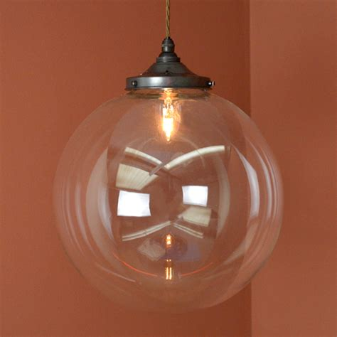Clear Globe Pendant Light Holmfirth Pendant Light With Large Globe Holmfirth Cord Pendant With Large Globe