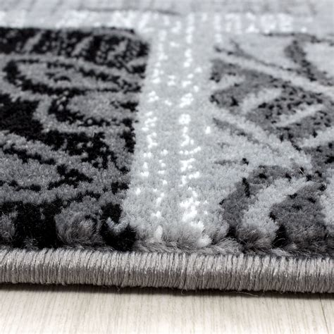 Modern Large Rugs Modern Contemporary Squares Swirls Black Beige Grey