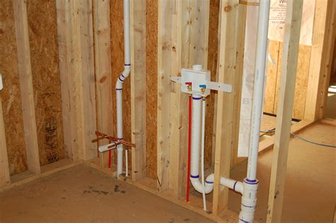 rough plumbing systems rough in and siding underway modern craftsman