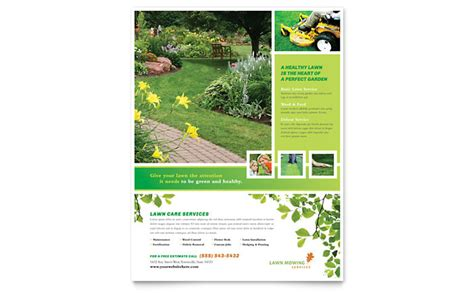 lawn care flyers templates lawn mowing service flyer template design