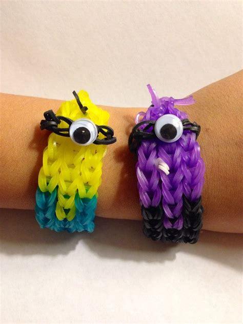 super cute minion inspired weave rubber band bracelet  choose  color despicable