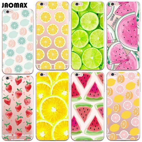 cute summer fruit lemon watermelon case  iphone         se