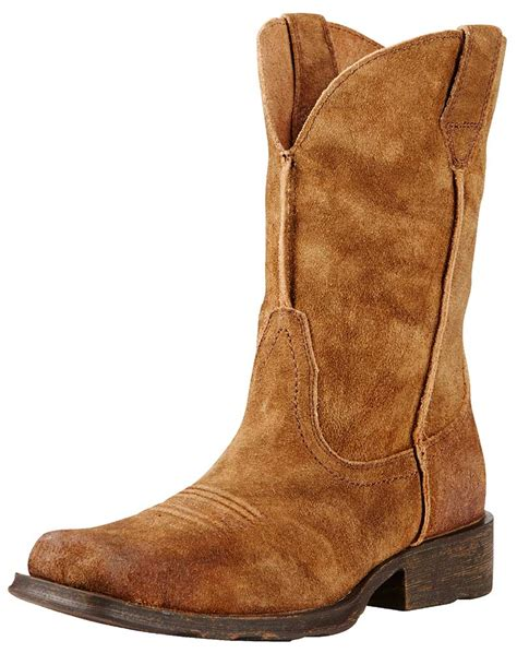 mens suede western boots ariat s rambler 11 quot square toe boots mocha suede