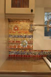 Mosaic Glass Backsplash Kitchen colorful glass and ceramic mosaic tile backsplash
