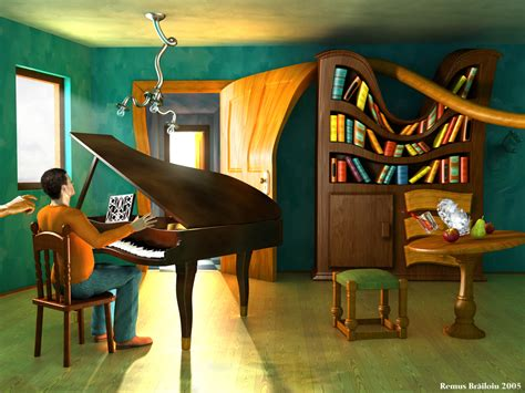 salvador dali living room disturbing the pianist digital contemporary artwork surrealism picture