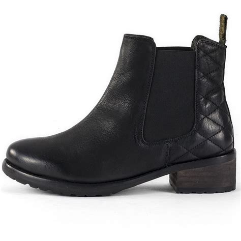 barbour caveson womens chelsea boots in black