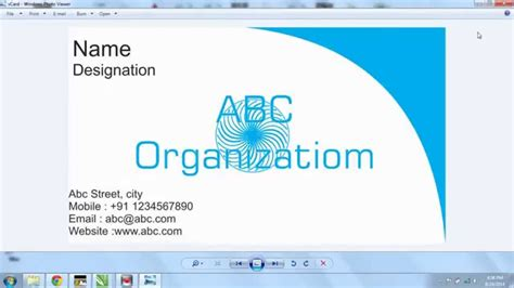 cdr templates business card create business card in coreldraw x7 al jazib vblogs