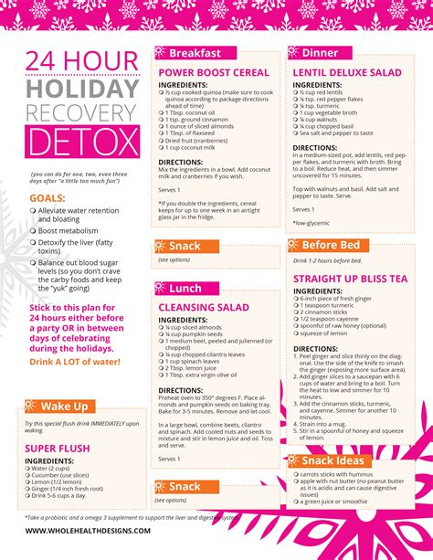 24 Hour Detox Cleanse Recipe by 24 Hour Recovery Detox