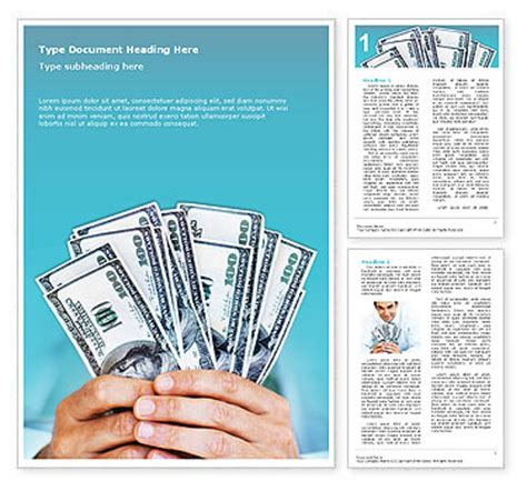 money template for word money word template design id 0000000345