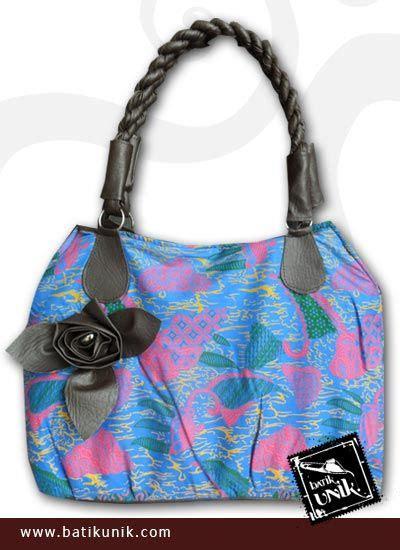 Tas Kembang 3 tas batik cantik untir kembang mawar tas wanita murah batikunik