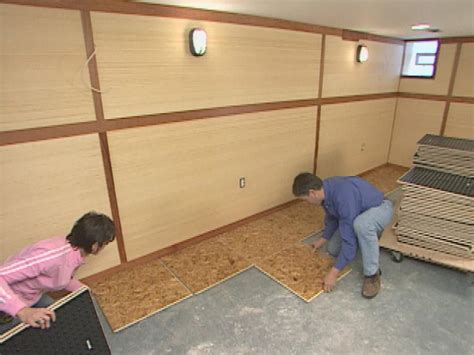 basement bathroom subfloor how to install subfloor panels how tos diy