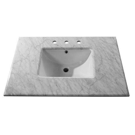 bellaterra home santee 32 in w x 22 in d marble single