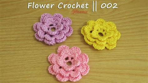 03580 Squishy Flower Squishy Bunga Selusin crochet tutorial bunga rajut flower crochet 003