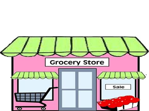 grocery store clipart shop clipart supermarket building pencil and in color