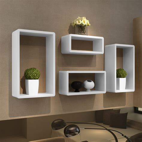 Wall Shelf Unit by 4 Modern Floating Wall Storage Display Unit Cube Shelf