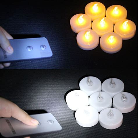 remote control tea lights 16 pieces wireless led candles with remote control