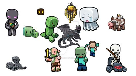 imagenes kawaii de minecraft dibujos minecraft by erickrolong on deviantart