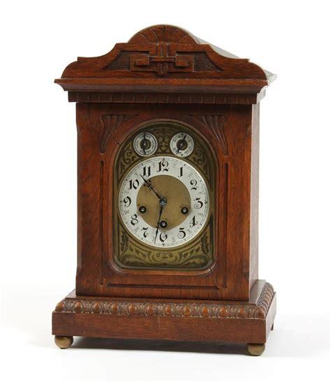 antique junghaus a07 shelf mantel clock oak with victo