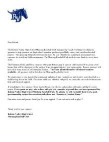 Thank You Letter Baseball Team baseball team sponsorship letter