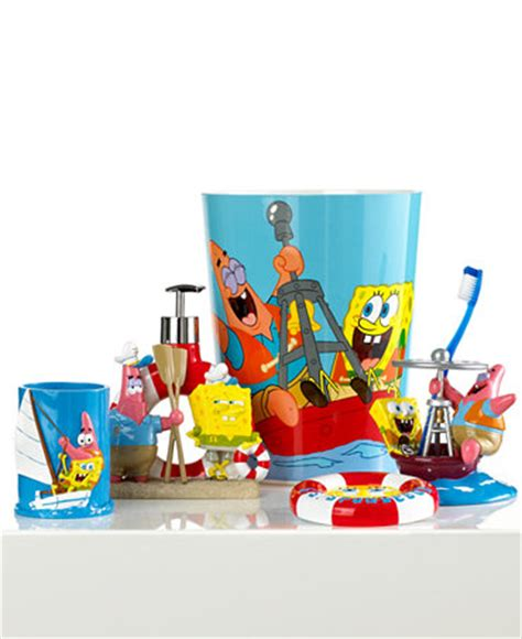 spongebob bathroom decor nickelodeon bath accessories spongebob set sail