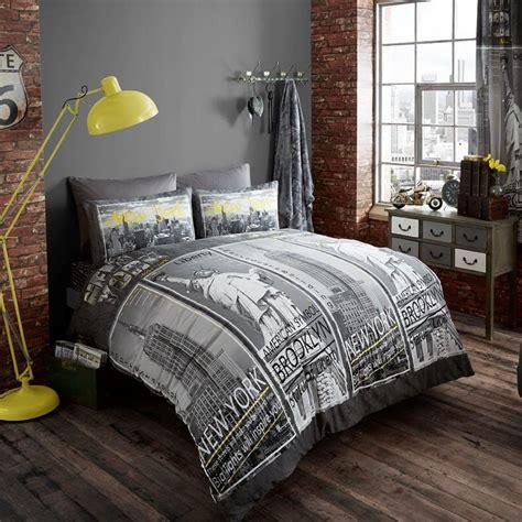 york city skyline bedding nyc themed bedroom ideas