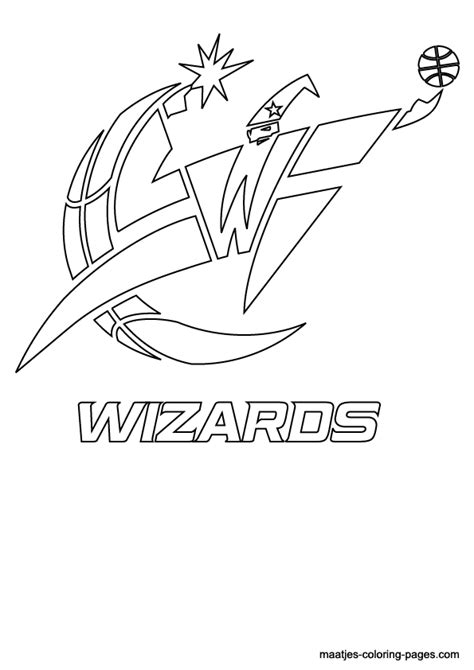 Nba Wizards Coloring Pages | washington wizards nba logo coloring pages sketch coloring