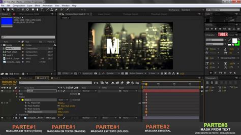 tutorial after effect petir como fazer m 225 scaras track matte no after effects cs6