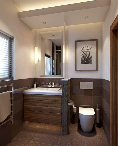 Die Schönsten Badezimmer by Kleines Badezimmer Trennwand Waschkonsole Holz Toilette