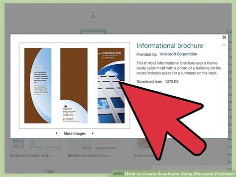 How To Make A Brochure Out Of Paper - how to create brochures using microsoft publisher 11 steps