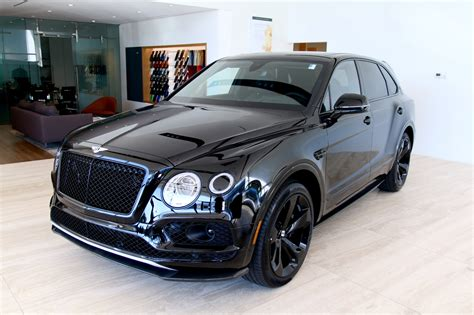 bentley and black 2018 bentley bentayga w12 black edition stock 8n018676