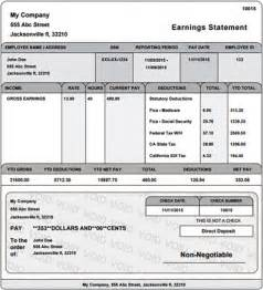 direct deposit check stub template real paycheck stubs home