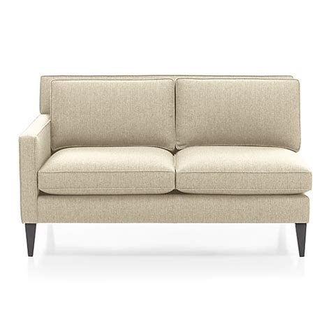 rochelle left arm loveseat desert crate and barrel