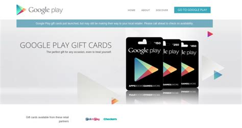 South Africa Google Play Gift Cards - google play gift cards go live in south africa
