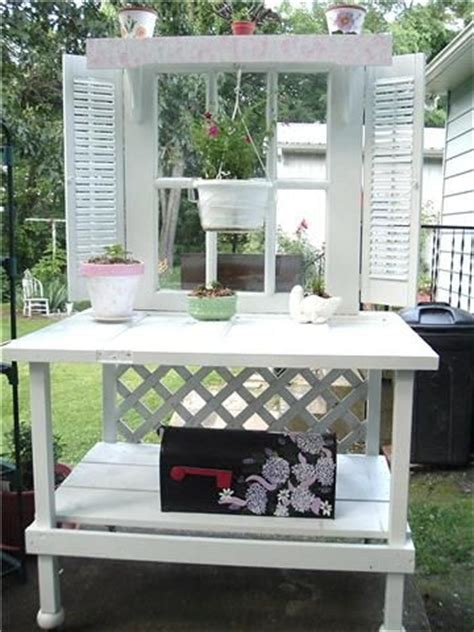 old door potting bench potting benches old doors and benches on pinterest