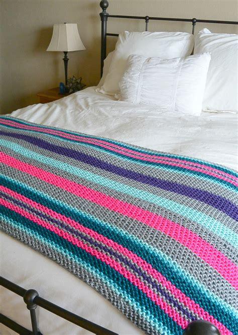 knitting stripes stripes knit blanket allfreeknitting