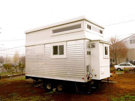 tiny house craigslist man rebuilds salvaged trailer into 200 sq ft tiny home